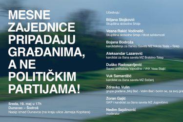 TRIBINA: Mesne zajednice pripadaju građanima, a ne političkim partijama!
